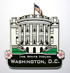 The White House Washington D.C. Artwood Fridge Magnet Design 10