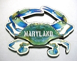 Maryland Blue Crab Artwood Fridge Magnet Design 10