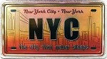 New York City The City That Never Sleeps Foil Panoramic Dual Sided Fridge Magnet