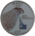 Idaho State Quarter Fridge Magnet