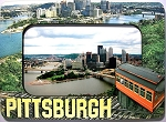 Pittsburgh Pennsylvania with Duquesne Incline Picture Frame Fridge Magnet 4x6