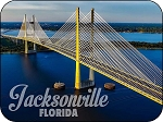 Jacksonville Florida Dames Point Bridge Fridge Magnet