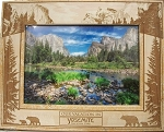 Our Vacation in Yosemite National Park Laser Engraved Wood Picture Frame