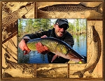 Pickerel Fish Laser Engraved Wood Picture Frame (5 x 7)