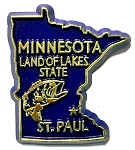 Minnesota State Outline Fridge Magnet