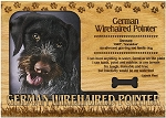 German Wirehaired Pointer Engraved Wood Picture Frame Magnet