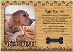 Safe Forever Engraved Wood Picture Frame Magnet