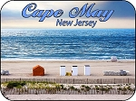Cape May New Jersey Beach View Photo Fridge Magnet