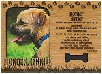 Border Terrier Engraved Wood Picture Frame Magnet