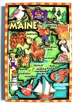 Maine Cartoon Map Fridge Magnet
