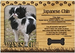 Japanese Chin Engraved Wood Picture Frame Magnet