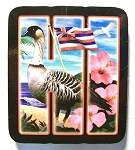 Hawaii Artwood Initial Magnet Design 19