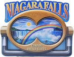 Niagara Falls with Binoculars Artwood Fridge Magnet