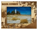 Door County Wisconsin Laser Engraved Wood Picture Frame (5 x 7)