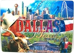 Dallas Montage 3D Postcard