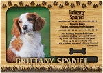 Brittany Spaniel Engraved Wood Picture Frame Magnet