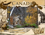 Canada Wildlife Laser Engraved Wood Picture Frame (5 x 7)