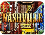 Nashville Tennessee Vintage Music City Fridge Magnet