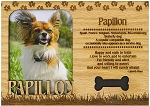 Papillon Engraved Wood Picture Frame Magnet