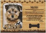 Morkie Engraved Wood Picture Frame Magnet