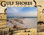 Gulf Shores Alabama Laser Engraved Wood Picture Frame (5 x 7)