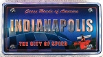 Indianapolis The City of Speed Foil Panoramic Dual Sided Fridge Magnet