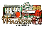 Historic Winchester Virginia with Apple Blossoms Fridge Magnet