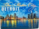 Detroit Michigan The Motor City 3D Postcard