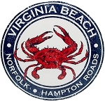 Virginia Beach Norfolk Hampton Roads Round Metal Small Fridge Magnet