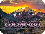 Maroon Bells Colorado Fridge Magnet