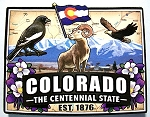 Colorado Classic Outline Artwood Jumbo Magnet Design 12