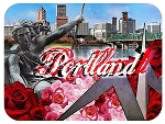 Portland Oregon Fridge Magnet