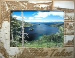 Lake Tahoe Engraved Wood Picture Frame