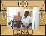 CNA Laser Engraved Wood Picture Frame