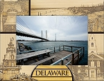 Delaware Laser Engraved Wood Picture Frame