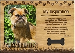 My Inspiration Engraved Wood Picture Frame Magnet