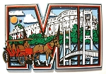 Michigan MI Collage Fridge Magnet Design 1