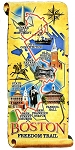 Boston Freedom Trail Artwood Fridge Magnet