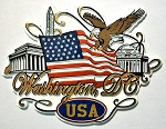 Washington D.C. Scroll Fridge Magnet Design 27
