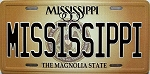 Mississippi State License Plate Novelty Fridge Magnet