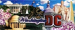 Washington D.C. Foil Panoramic Fridge Magnet
