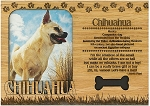 Chihuahua Engraved Wood Picture Frame Magnet