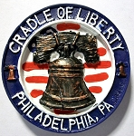 Cradle of Liberty Philadelphia Round Ceramic Fridge Magnet Design 30