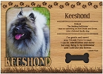 Keeshond Engraved Wood Picture Frame Magnet