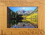 Breckenridge Colorado Laser Engraved Wood Picture Frame (5 x 7)