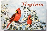 Virginia with Cardinals Souvenir Playing Cards