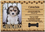 Cavachon Engraved Wood Picture Frame Magnet