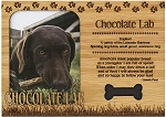 Chocolate Lab Engraved Wood Picture Frame Magnet