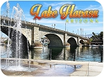 Lake Havasu City Arizona Bridge Scene Fridge Magnet