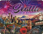 Seattle Washington Montage 3D Fridge Magnet